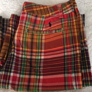 Polo Ralph Lauren Plaid Shorts - Like New! Size 18